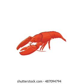 Sea food crawfish. crawfish food icon isolated.