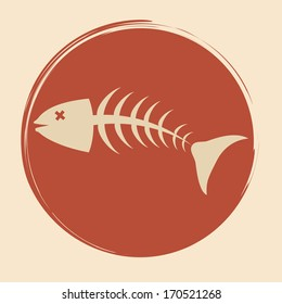 sea food design over pink  background vector illustration