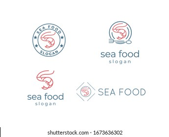 SEA FOOD LOGO - Creative and unique logo and icon for seafood restaurant company