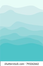 Sea green shades abstract background, vector illustration