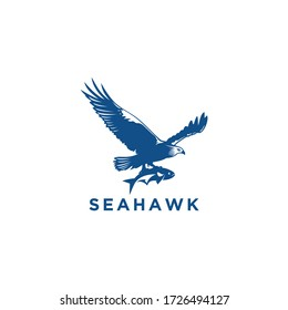 Sea Hawk logo vector design template