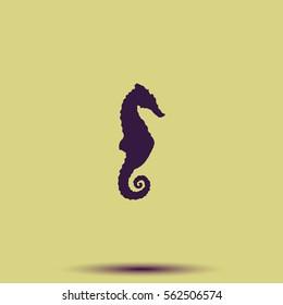 Sea horse icon.