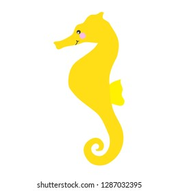 Sea Horse Illustration,  Cute Seahorse Digital Drawing