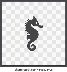 Sea Horse vector icon. Isolated illustration. Business picture.