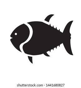 Sea fish icon design black icon