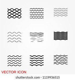 Sea icons, vector symbol