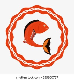 sea life  concept with fish design, vector illustration 10 eps graphic.