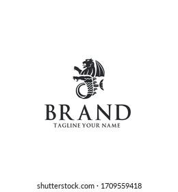 Sea Lion Heraldic Badges Logo