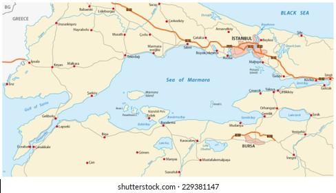 Sea Of Marmara Ancient Greece Map.Black Sea Map Stock Illustrations Images Vectors Shutterstock