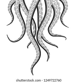 Sea Monster Tentacle Illustration