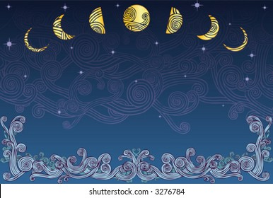 Sea, Night, and Sky Design, (also in jpeg)