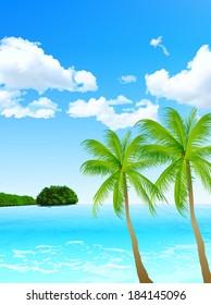 Sea palm landscape