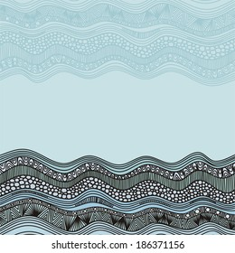 Sea pattern vector illustration