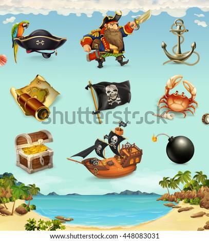 Sea pirates funny character