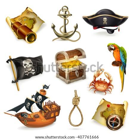 Sea pirates vector icon