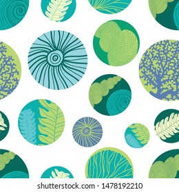 Sea polka dot. Vector. Seamless pattern can be used for wallpaper, pattern fills, web page background, surface textures.