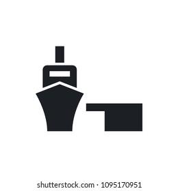 sea port vector icon