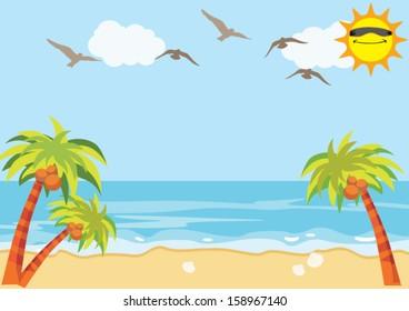 Sea Sand Beach Background