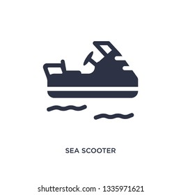 sea scooter isolated icon. Simple element illustration from summer concept. sea scooter editable logo symbol design on white background. Can be use for web and mobile.