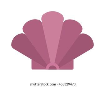 Sea shell cartoon sea clams vector illustration