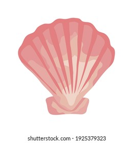 sea shell color pink isolated icon vector illustration design