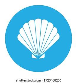 sea shell icon isolated vector