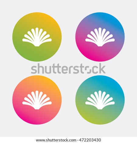 Sea Shell Sign Icon Conch Symbol Stock Vector Royalty Free