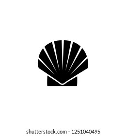 sea shell vector icon. sea shell sign on white background. sea shell icon for web and app