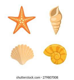 sea shells symbols collection