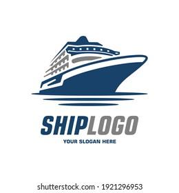 sea ship logo vector symbol