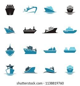 sea shipping cargo logo
