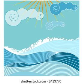 sea and sky illustration series