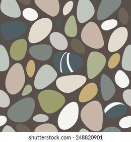 Sea stones seamless pattern. Vector illustration EPS8