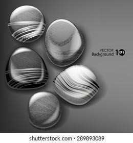 Sea stones. Vector eps 10.