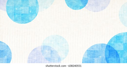 Sea summer Japanese paper background