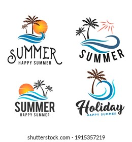 sea and summer logo, icon and illustration