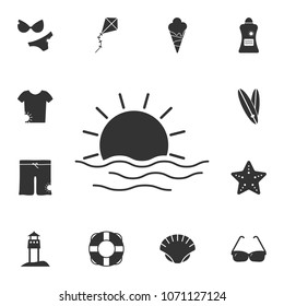 sea sunset icon. Detailed set of Summer illustrations. Premium quality graphic design icon. One of the collection icons for websites, web design, mobile app on white background