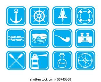 Sea theme icon set