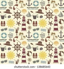 Sea themed seamless pattern 2