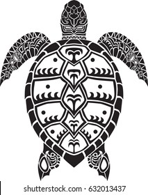 Sea turtle animal isolated vector decal silhouette decoration tattoo art design