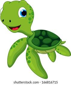 Baby Sea Turtle Cartoon Images Stock Photos Vectors Shutterstock