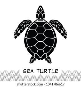 Sea turtle icon. design animal logo. Vector illustration