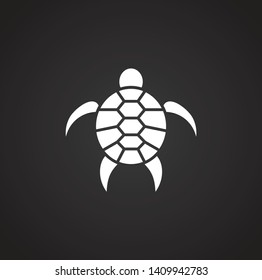 bfc7f3610 Sea turtle icon on background for graphic and web design. Simple  illustration. Internet concept