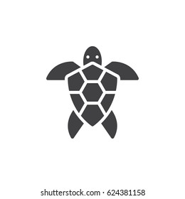 Sea turtle icon vector, filled flat sign, solid pictogram isolated on white. Symbol, logo illustration. Pixel perfect