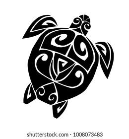 Turtle Tattoos Polynesian And Hawaiian Tribal Turtle Designs Images