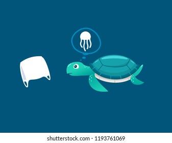 Sea turtles see plastic bags as jellyfish