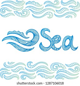 Sea. Vector illustration