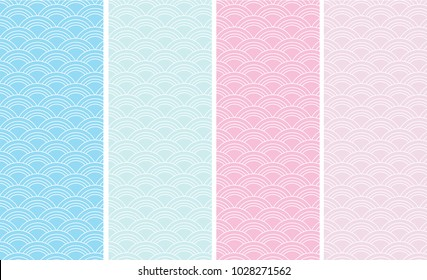 Sea wave Japanese new pattern seamless vector in graphic style background for fabric,textile,Advertising work,Publication,Vector Illustration design.