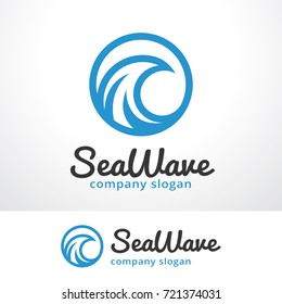 Sea Wave Logo Template Design Vector, Emblem, Design Concept, Creative Symbol, Icon