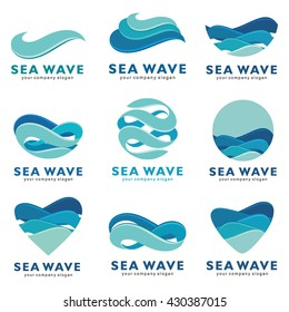 Sea wave logo. Vector concept